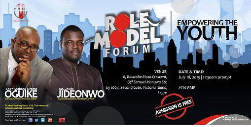 Chude Jideonwo, Our Managing Partner, to speak at CVL's role model forum