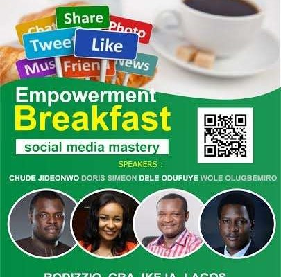 Our Managing Partner, Chude Jideonwo to share RED's digital packages at Empowerment Breakfast event